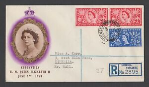 ++ GREAT BRITAIN 1953 CORONATION REGISTERED FIRST DAY COVER ++