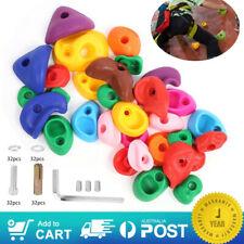 Textured Climbing Rock Wall Stones Holds Hand Feet Kids Assorted Kit Gift 32pcs