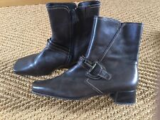 Gabor Brown Snaffle Detail  Leather Ankle Boots Size 7