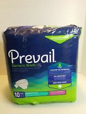 """Prevail bariatric briefs 10 Count Bariatric B Up To 100"""" with closure on side"""