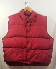 L.L. Bean Red Vest Goose Down Filled XL