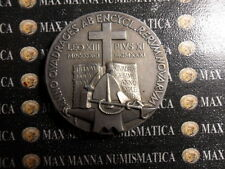 MEDAGLIA METALLO ARGENTATO LEONE XIII E PIO XI