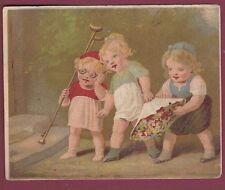 Chromo sans pub - 040713 - Enfants, fleurs, béquilles