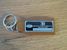Bugatti Data Plate Leather Keychain Veyron 16.4 Type 57 C 101 37 43 44 50 EB110