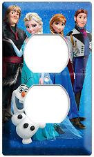 DISNEY FROZEN ANNA ELSA KRISTOFF POWER OUTLET COVER OLAF PLATE CHILDRENS BEDROOM
