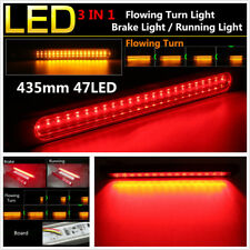 Dual Color LED Car Brake Light Tail Stop Warning Light Flowing Signal Turn Light