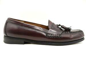 Cole Haan Burgundy Leather Tassel Slip On Loafers Shoes Men's 10 D