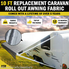 NEW 10 Ft Replacement Caravan Roll Out Awning PVC Vinyl / Fabric Carefree Canvas