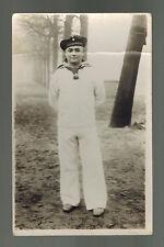 Mint RPPC Germany Kriegsmarine RPPC Postcard Sailor Navy In Woods Uniform