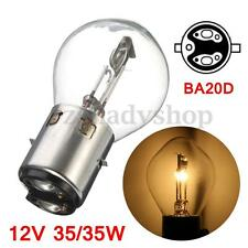 12v 35w Hi/Low Beam BA20d Motorcycle ATV Moped Scooter Headlight Lamp Bulb Light