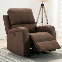 Power Recliner Chair Suede Sofa Overstuffed Padded Back Seat Armrest w/ USB Port