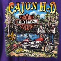 VTG Harley Davidson Men's XL Cajun Lafayette, Louisiana Swamp Alligator Music