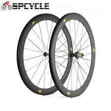 1pair 50mm Carbon Road Bike Wheels Bicycle Clincher Carbon Wheelsets 10/11 Speed