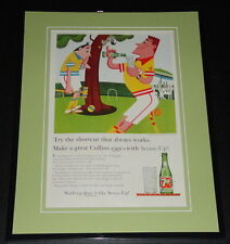 1959 7 Seven Up Collins 11x14 Framed ORIGINAL Vintage Advertisement