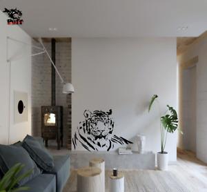 TIGER Vinyl Wall Transfer Stickers Big Cat Art Decor Animal Room Kitchen House