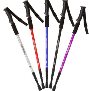 A pair Telescopic 3-Section Antishock Trekking Walking Hiking Pair Stick Poles