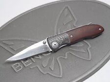 Benchmade 690 Elishewitz Carbon Fiber Winewood 154CM Titanium Folding Knife