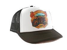 1970's Suzuki street motorcycles hat Trucker Hat mesh hat snapback hat Brown