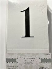 Table Number Tent 1-20 Shower Wedding Party Celebrate