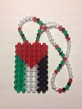*Handmade* Palestinian Flag for your car's rearview mirror, necklace, or ?
