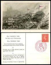 George VI (1936-1952) Czech Postal Card, Stationeries Stamps