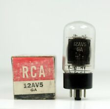 Nos New Old Stock Rca 12Av5Ga Power Tube Black Plates - Hickok Tested 6500@38mA
