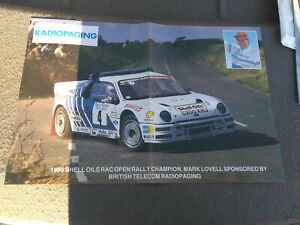 Ford RS200 RALLY Autosport Poster Mark Lovell 1986