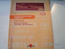 ** Nos chères voitures d'antan n°51 Chrysler 180 / Vincenzo Lancia