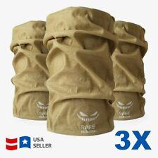 LOT OF 3 Bandanna Head Face Mask Neck Gaiter Snood Beanie Tube Scarf Bandana