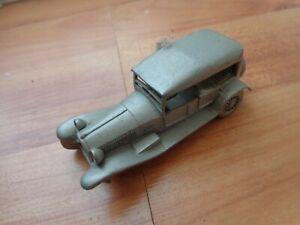 DANBURY MINT CLASSIC 1928 LANCIA LAMBDA PEWTER REPLICA MODEL CAR USED