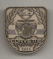 1995 Indianapolis 500 3065 Silver Pit Badge Corvette Pace Car Jacques Villenueve