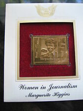 MARGUERITE HIGGINS WOMEN IN JOURNALISM replica Gold Golden Cover Stamp FDC 2002