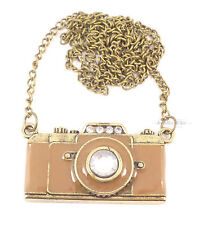 Retro Vintage Coffee Camera Costume Jewellery Necklace