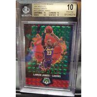 2019-20 Mosaic Basketball Jam Masters LeBron James Green BGS 10 Pristine Low Pop