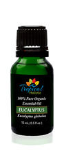 Eucalyptus Globulus Organic Essential Oil 15ml (1/2 oz) -100% Pure & Undiluted