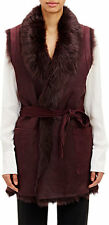 Vince shearling vest in red ( oxblood ) - Size Small