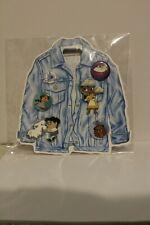 Oh My Disney Store 5 Pin & Button Set Tiana Eric Jasmine Percy Beast