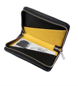 ACME Studio Yellow Leather Zip L5-4 Zip Card Case by Adrian Olabuenaga
