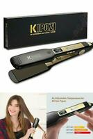 Professional Titanium Flat Iron Hair Straightener with Digital LCD DisplaY