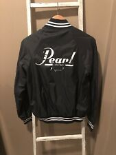 Vintage Pearl Drums Satin Black Jacket Made in USA Small S 34-36