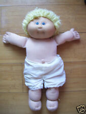 "Vintage Coleco 16"" Tall Cabbage Patch Kids Doll Blond Hair Blue Eyes Original"