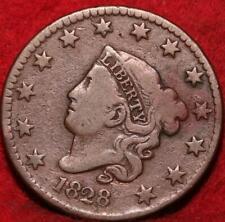 1828 Philadelphia Mint Copper Coronet Head Large Cent