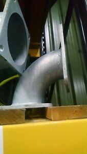 "elbow 4"" 90 degree square flange bolt on piece slurry tanker galvanised"