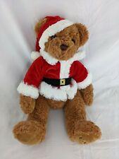 "FAO Santa Bear Plush 15"" Toys R Us 2015 Stuffed Animal Toy"