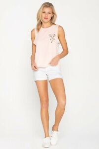 """NWT Miss Me """"GOOD TIME SHORTS"""" H2290H White Shorts Size 30"""