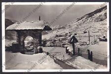 BRESCIA PONTE DI LEGNO 78 INVERNO NEVE Cartolina VIAGGIATA 1935 REAL PHOTO
