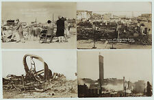 > RPPC Set of 4 - Ocean City NJ Fire Disaster Ruins 1927 New Jersey Real Photos