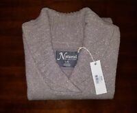 Natural Reflections Large L Driftwood Brown Long Sleeve V-Neck Womens Sweater