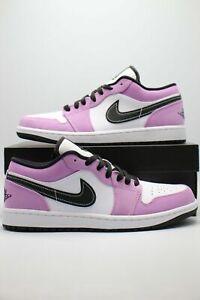 New Nike Air Jordan 1 Low SE White Purple Violet Shock Black CK3022-503