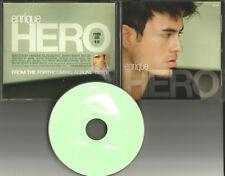 ENRIQUE IGLESIAS hero w/ RARE EDIT RADIO DJ PROMO CD Single 2001 MINT